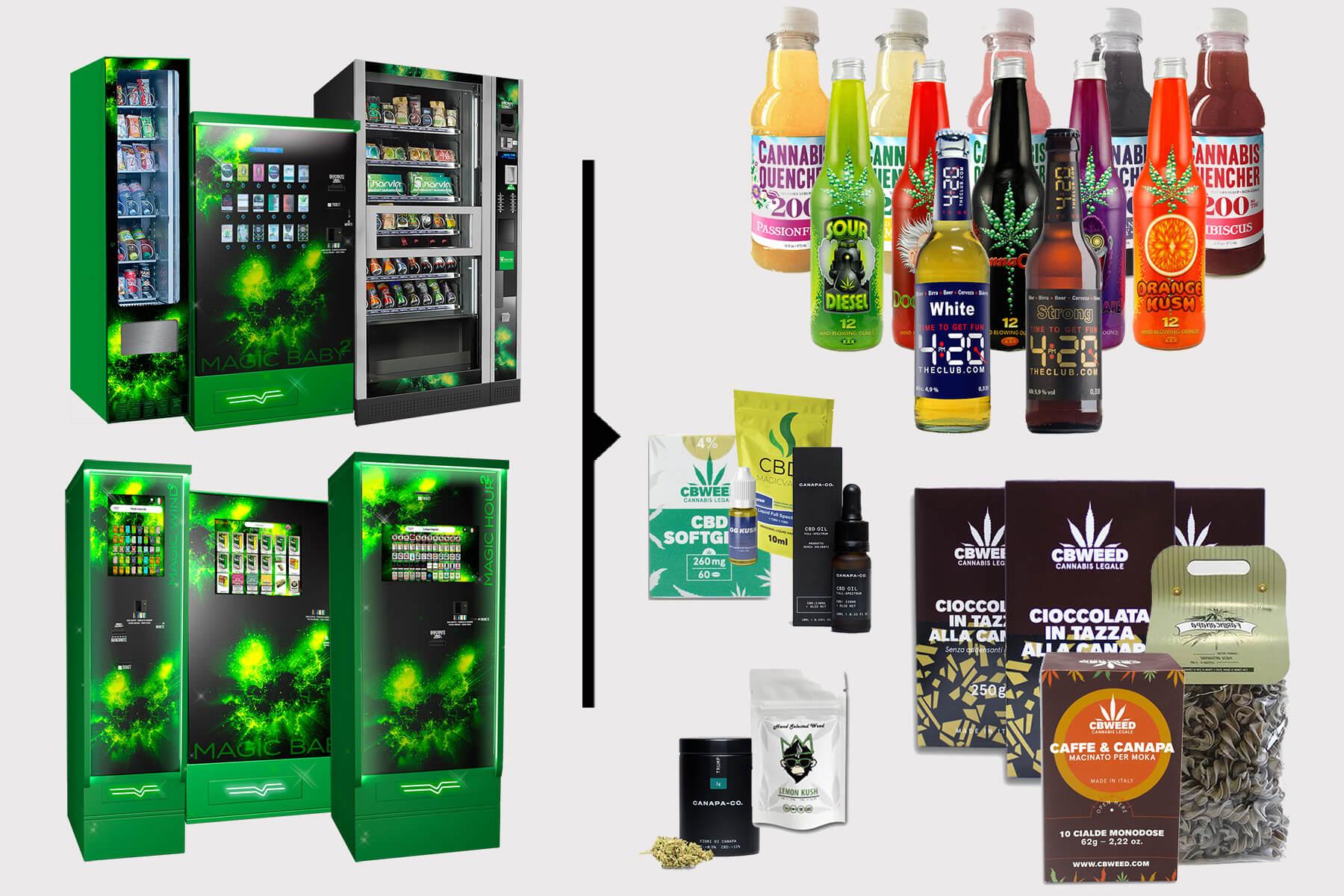 5 Categorie di Prodotti Top Sellers per Distributori Automatici di Cannabis