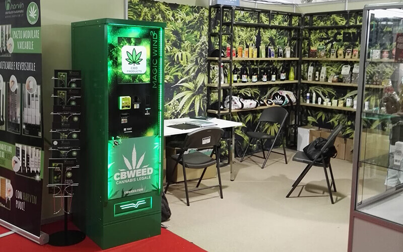 Harvin Cannabis Vending Machines in Thessaloniki with our CBWeed Partners