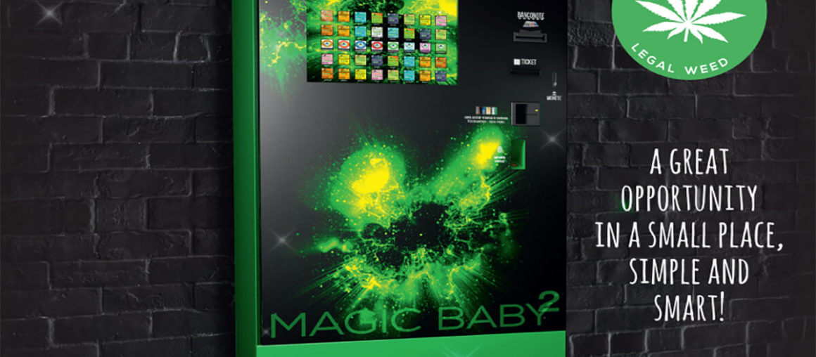 Our Most Popular Automatic Legal Cannabis Vending Machine: Magic Baby Touch